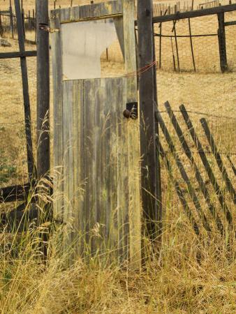 Old Door in Homestead Fence, Montana, USA