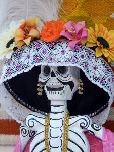 Skeleton on Day of the Dead Festival, San Miguel De Allende, Mexico by Nancy Rotenberg
