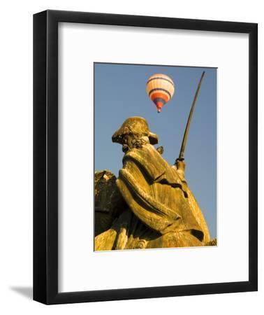 Statue and Hot Air Balloon, San Miguel De Allende, Mexico