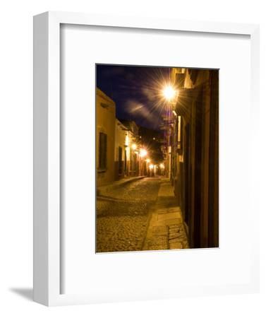 Street Scene Before Sunrise, San Miguel De Allende, Mexico