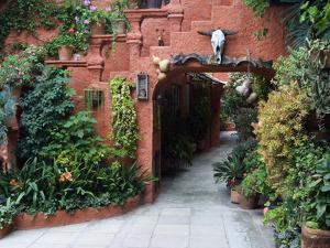Villa Entrance to Garden, San Miguel De Allende, Mexico by Nancy Rotenberg