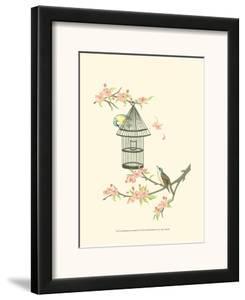 Small Birds on a Branch II by Nancy Slocum