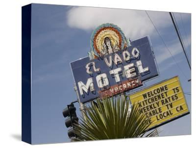 Detail of El Vado Motel Sign, Albuquerque, New Mexico, USA