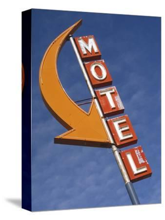 Detail of Plain Motel Sign, Cle Elum, Washington, USA