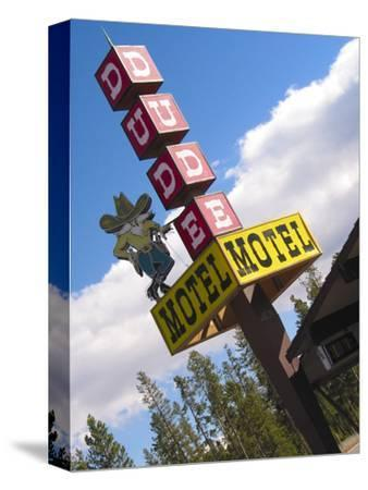 Dude Motel Sign, West Yellowstone, Montana, USA
