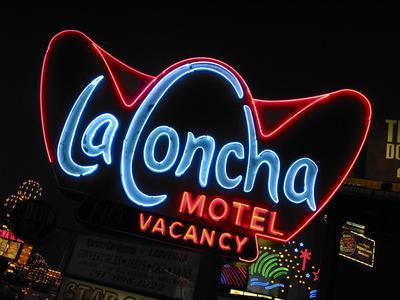 La Concha Motel Sign, Las Vegas, Nevada, USA