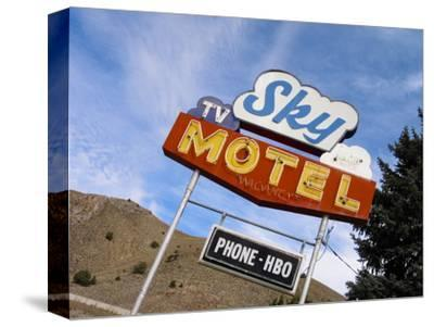 Sky Motel Sign, Drummond, Montana, USA