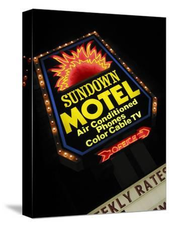 Sundown Motel Sign, Sheridan, Wyoming, USA