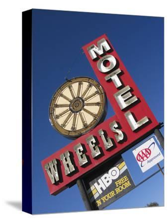Wheels Motel Sign, Greybull, Wyoming, USA