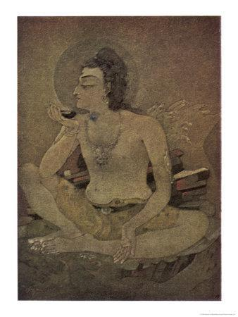 The God Shiva Saves Humanity by Drinking the Pois