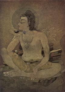 The God Shiva Saves Humanity by Drinking the Pois by Nanda Lal Bose