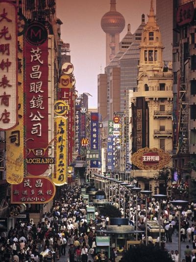Nanjing Dong Lu, Shanghai, China-Walter Bibikow-Photographic Print