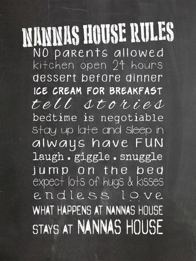 Nannas House Rules-Indigo Sage Design-Art Print