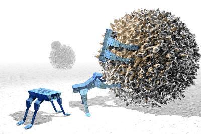 Nanorobots Killing Cancer Cell-Christian Darkin-Photographic Print
