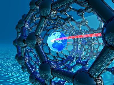 Nanotube Technology, Conceptual Artwork-Laguna Design-Photographic Print