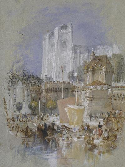 Nantes, 1826 - 1830 (Watercolour with Bodycolour and Pen and Black and Brown Ink)-J^ M^ W^ Turner-Giclee Print