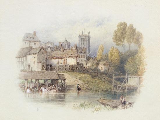 Nantes, France-Myles Birket Foster-Giclee Print