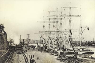 Nantes, Harbour--Photographic Print