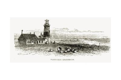 Nantucket Lighthouse, Massachusetts, C.1870, from 'American Pictures', Published by the Religious?--Giclee Print