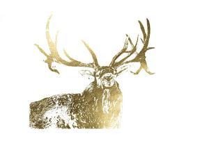 Gold Foil Elk by Naomi McCavitt