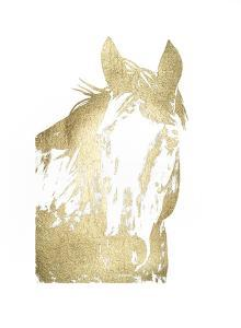 Gold Foil Horse Portrait I by Naomi McCavitt