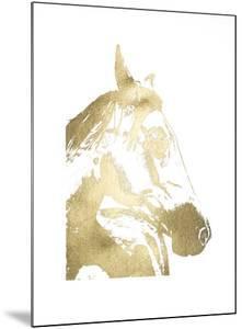 Gold Foil Horse Portrait II by Naomi McCavitt