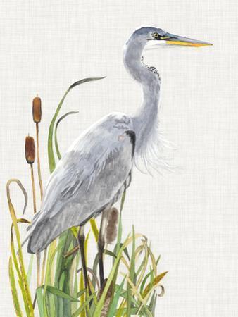 Waterbirds & Cattails I by Naomi McCavitt