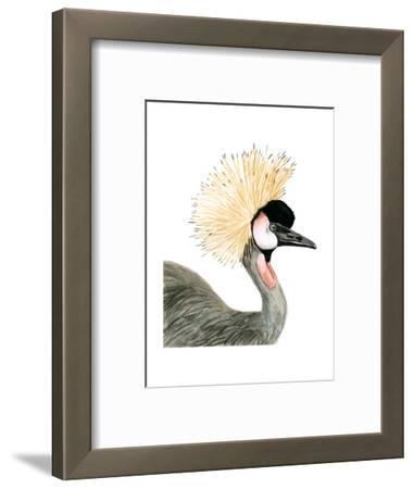 Watercolor Crested Crane