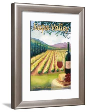 Napa Valley, California Wine Country-Lantern Press-Framed Art Print