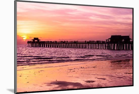 Naples Florida Pier at Sunset-Philippe Hugonnard-Mounted Photographic Print