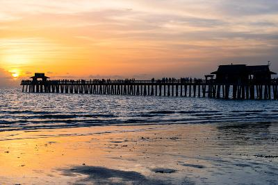 Naples Florida Pier at Sunset-Philippe Hugonnard-Photographic Print