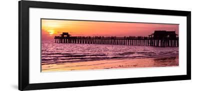 Naples Florida Pier at Sunset-Philippe Hugonnard-Framed Photographic Print