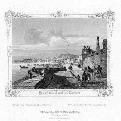 Naples from the Carmine Castle, Italy, 19th Century-J Poppel-Giclee Print