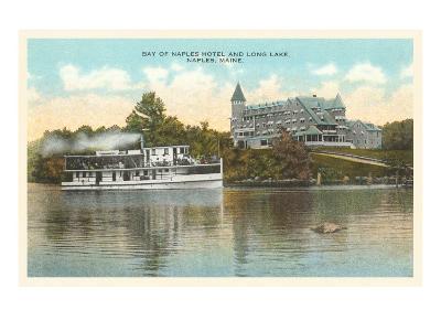 Naples Hotel, Long Lake, Maine--Art Print