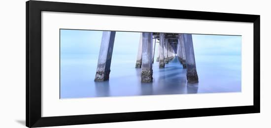 Naples Pier Morning-Moises Levy-Framed Photographic Print