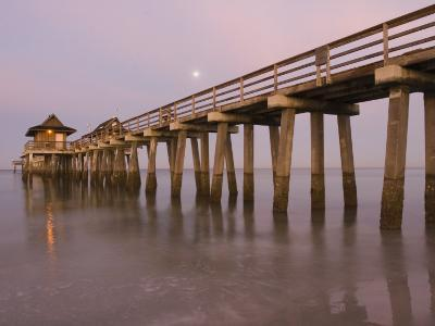 Naples Pier, Naples, Florida, USA-Walter Bibikow-Photographic Print