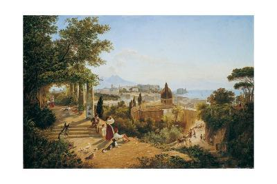 Naples Seen from the Slopes of the Vomero-Carl Wilhelm Goetzloff-Giclee Print