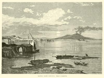 Naples, with Vesuvius, from Posilippo--Giclee Print