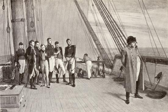 Napoleon (1769-1821) on Board the Bellerophon-English School-Giclee Print