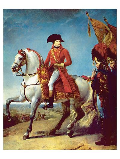 Napoleon after the Battle of Marengo--Art Print