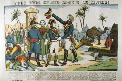 Napoleon and General Kleber on the Expedition to Egypt, 1798-Francois Georgin-Giclee Print