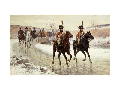 Napoleon and his Escort-Jan Chelminski-Giclee Print
