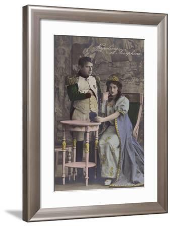 Napoleon and Josephine--Framed Giclee Print