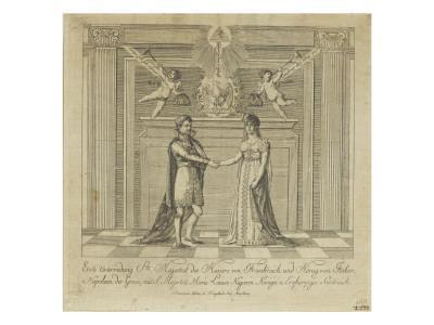 Napoleon and Marie Louise, the Covenant of Marriage--Giclee Print