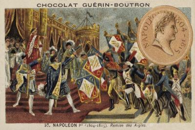 Napoleon and the Distribution of the Eagle Standards, 1804--Giclee Print