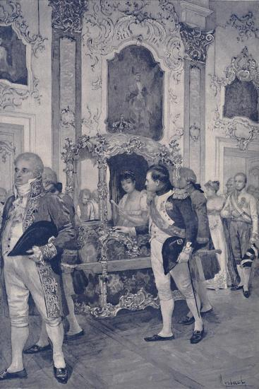 'Napoleon and the Empress of Austria at Dresden', 1812, (1896)-Unknown-Giclee Print