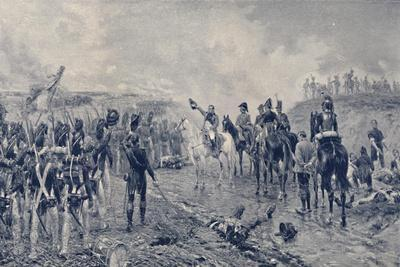 'Napoleon and the Old Guard Before Waterloo', 1815, (1896)-Unknown-Framed Giclee Print