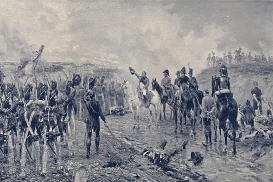 'Napoleon and the Old Guard Before Waterloo', 1815, (1896)-Unknown-Giclee Print
