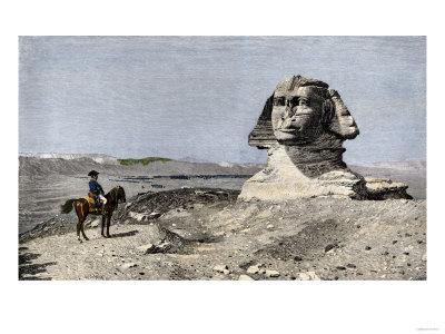 Napoleon and the Sphinx at the Time of the French Invasion of Egypt, c.1798--Giclee Print