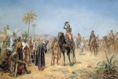 Napoleon Arriving at an Egyptian Oasis-Robert Alexander Hillingford-Giclee Print